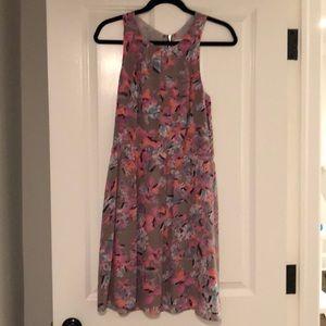 Rebecca Taylor floral halter neckline dress